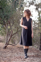 Bosky Dress Italian Pure Wool - Coal
