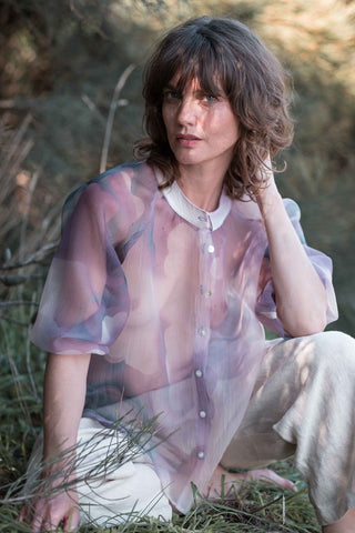 Marianne blouse / Mauve purple clouds