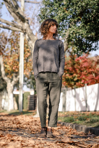 Glia Jumper Japanese Wool - Ash Grey