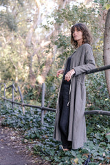 Caraval Coat Japanese Pure Wool - Gum Leaf Green