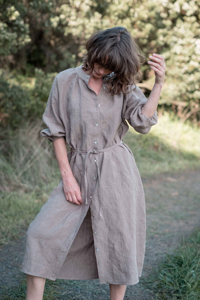 Marianne shirt dress / Taupe - light olive