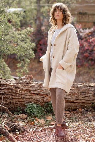 Gallegos Coat Italian Wool - Winter Cream