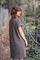 Mario Dress Japanese Pure Wool Wool - Moss Green