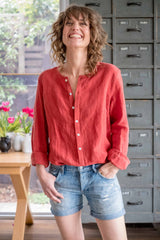 Vivienne shirt Earth red