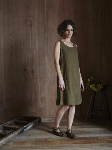 Syd Linen Dress Tobacco