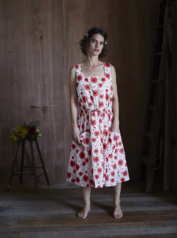 Sienna Dress Red Poppies