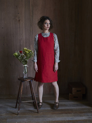 Syd Linen Dress Red