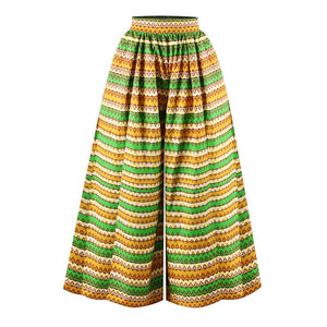 African Print High Waist Trousers