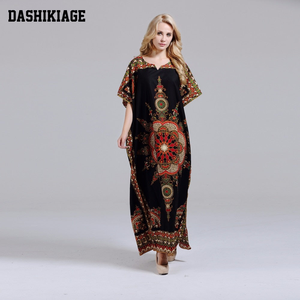 African Dashiki Print Dashiki Maxi Dress