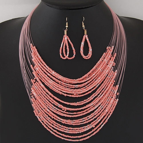 African Beads Multi-layer Jewelry Set