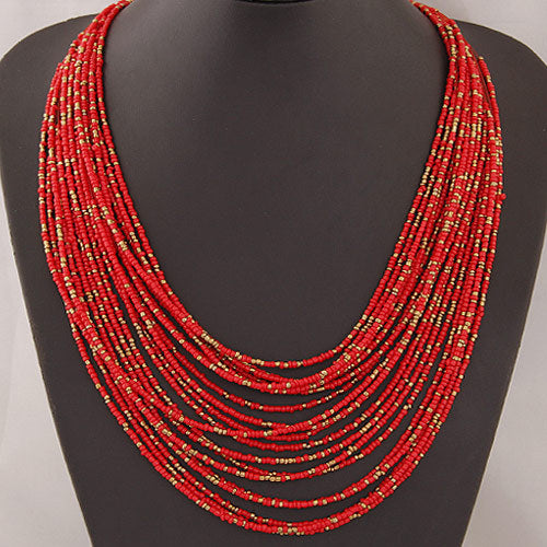 African Beads Jewelry Necklace/Bangle Set