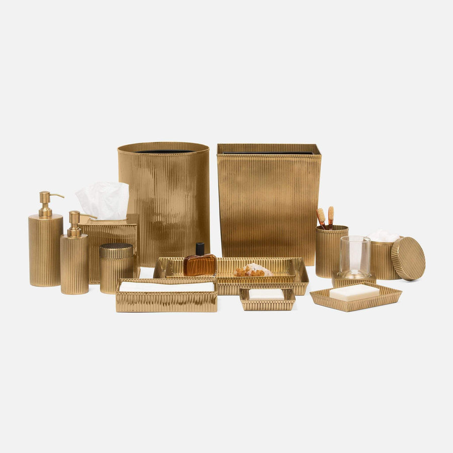 Redon Tissue Box - Brass Accessories thinkpositivefashioncafe.com