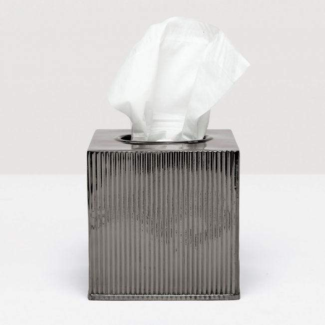 Redon Tissue Box - Shiny Nickel Accessories Pigeon and Puddle