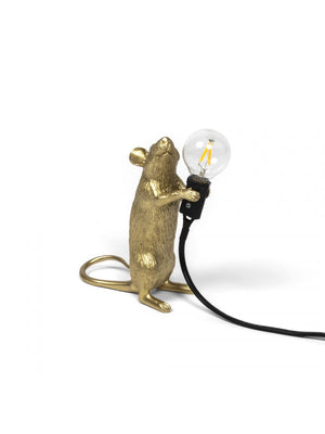 Mouse Lamp Gold Step Lighting seletti