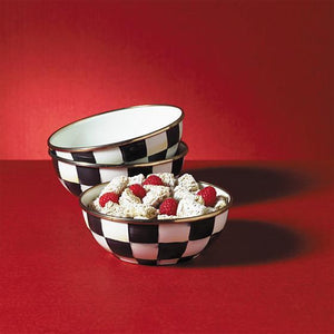 MacKenzie-Childs Courtly Check Enamel Everyday Bowl Tableware Mackenzie Childs