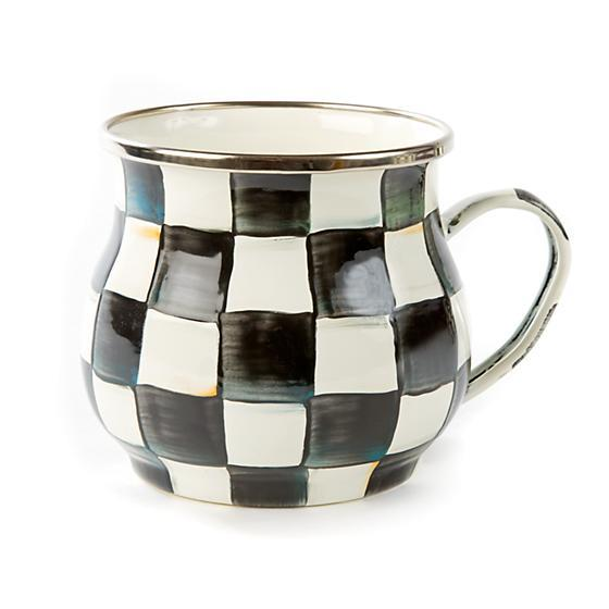 MacKenzie-Childs Courtly Check Enamel Mug