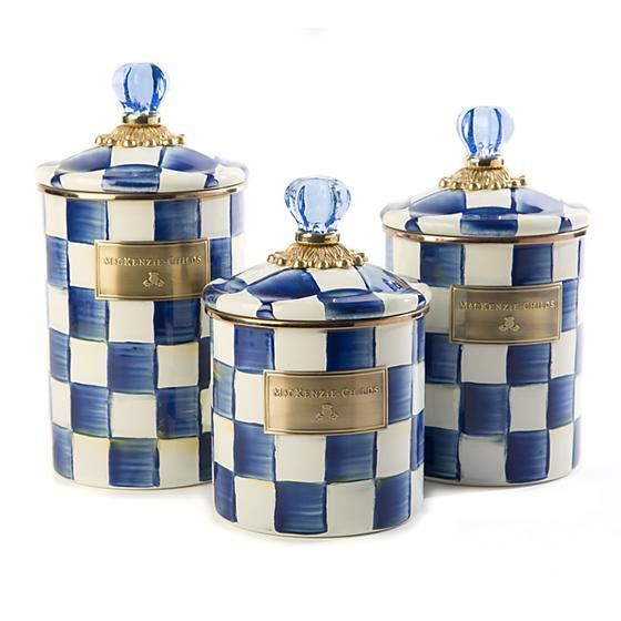 MacKenzie-Childs Royal Check Canister - Medium Kitchen Mackenzie Childs