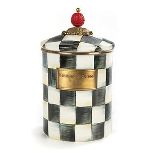 MacKenzie-Childs Courtly Check Enamel Canister - Medium Kitchen Mackenzie Childs