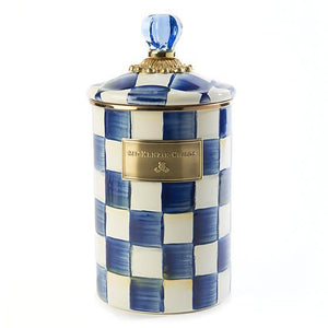 MacKenzie-Childs Royal Check Canister - Large Kitchen Mackenzie Childs