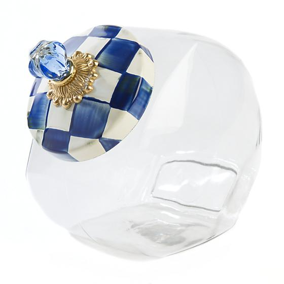 MacKenzie-Childs Cookie Jar with Royal Check Enamel Lid Kitchen Mackenzie Childs