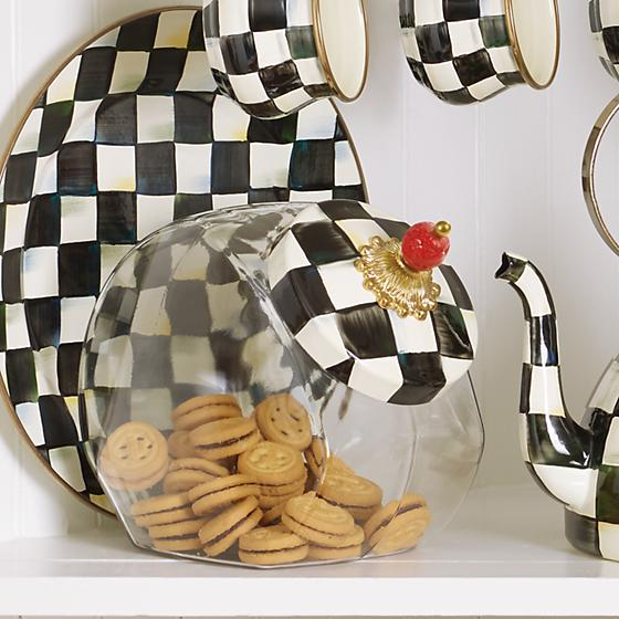 MacKenzie-Childs Courtly Check Cookie Jar Kitchen Mackenzie Childs