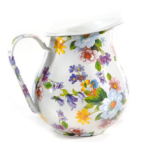 MacKenzie-Childs Flower Market Pitcher - White