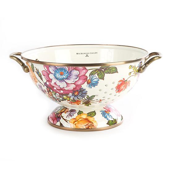 MacKenzie-Childs Flower Market Large Colander - White
