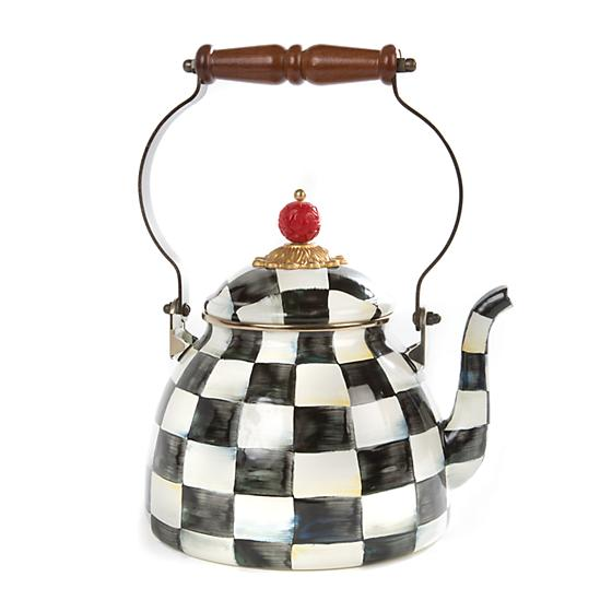 MacKenzie-Childs Courtly Check Enamel Tea Kettle - 2 Quart