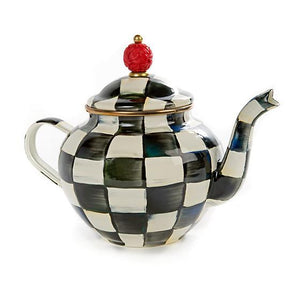 MacKenzie-Childs Courtly Check Enamel Teapot - 4 Cup