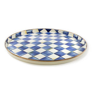 MacKenzie-Childs Royal Check Round Tray Tableware Mackenzie Childs