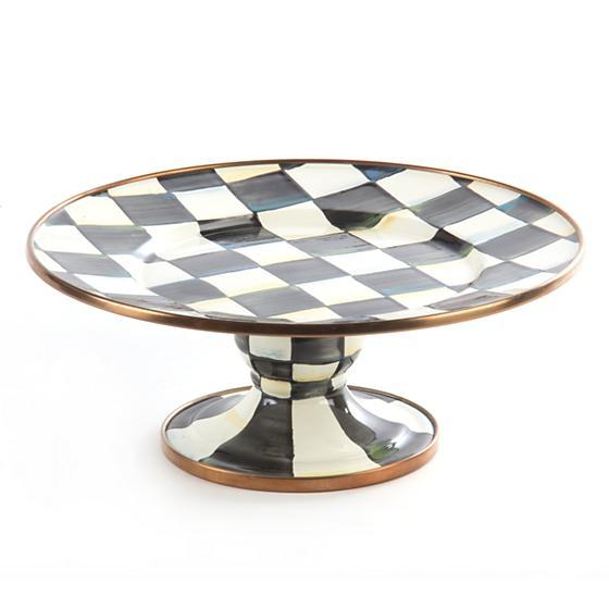MacKenzie-Childs Courtly Check Enamel Pedestal Platter - Mini Tableware Mackenzie Childs