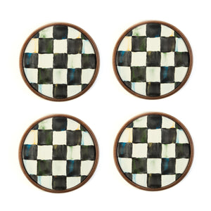 MacKenzie-Childs Courtly Check Coasters - Set of 4 Tableware Mackenzie Childs
