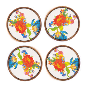 MacKenzie-Childs Flower Market Coasters - Set of 4