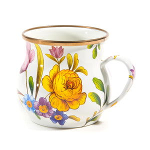 MacKenzie-Childs Flower Market Mug - White Tableware Mackenzie Childs