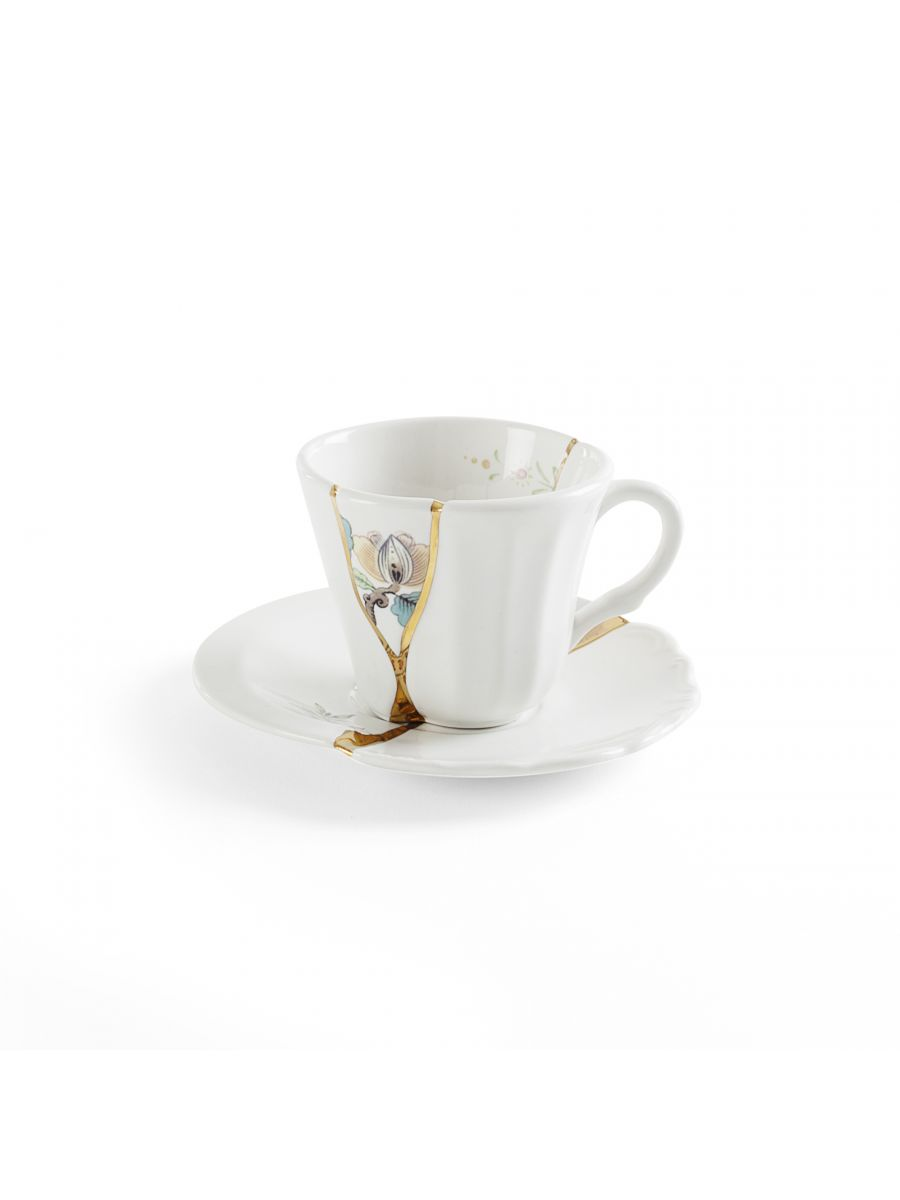 Kintsugi Coffee cup with saucer