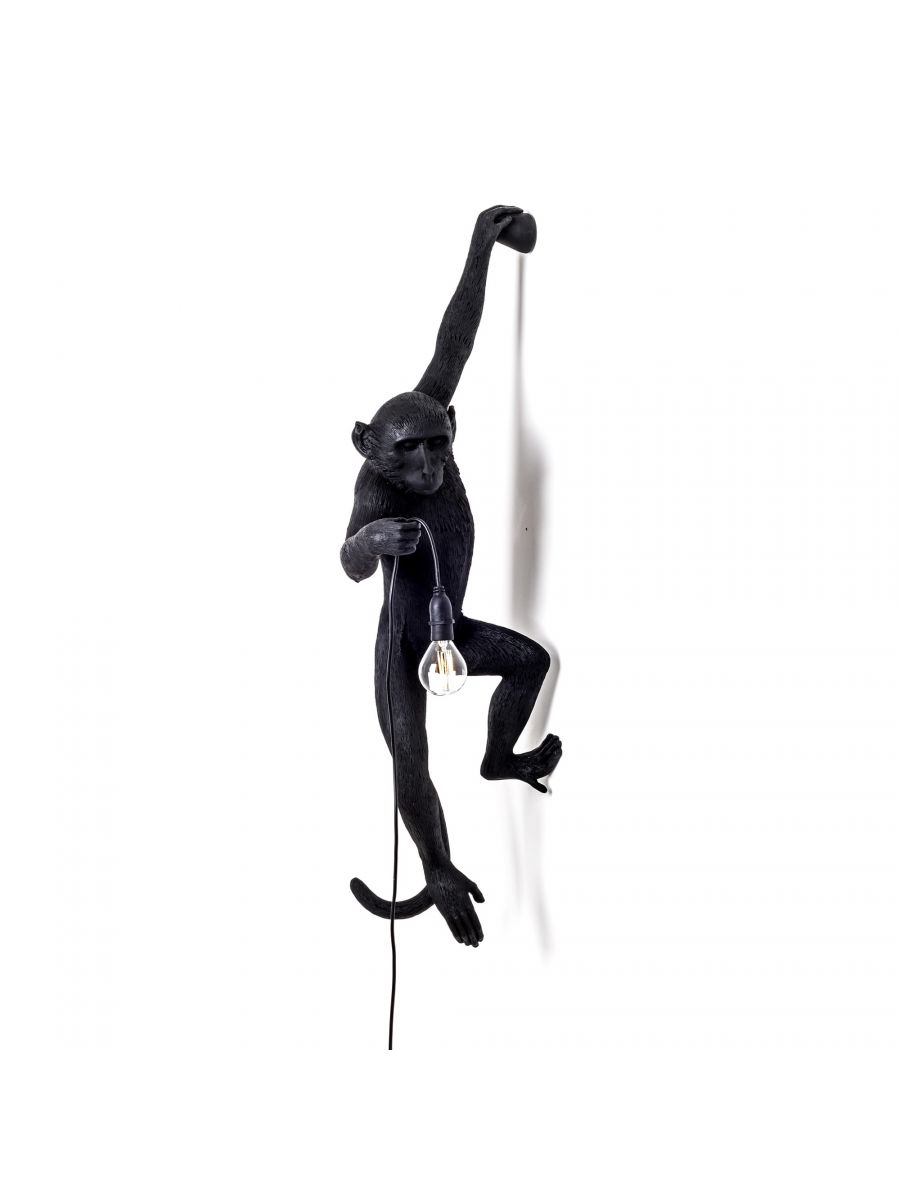 The Monkey Lamp Black Hanging Version Left Lighting SELETTI