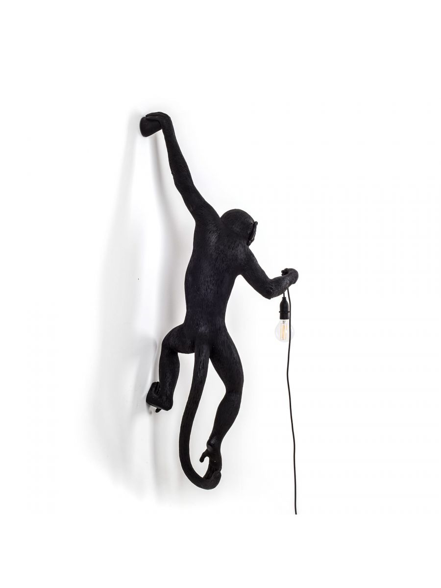 The Monkey Lamp Black Hanging Version Left