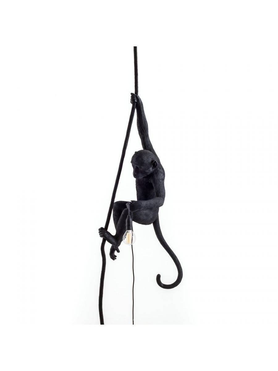 The Monkey Lamp Black Ceiling Version SELETTI