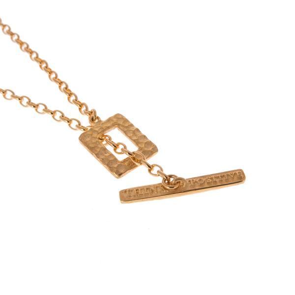 Think Positive Chain Gold Plated Sterling Silver Necklaces Think Positive Antonio Marsocci Sterling Silver Jewellery