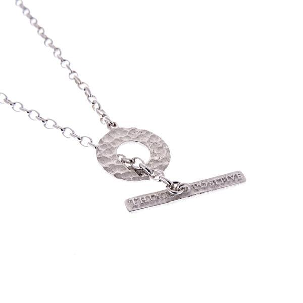 Think Positive Round Rhodium Plated Sterling Silver necklaces Think Positive Antonio Marsocci Sterling Silver Jewellery
