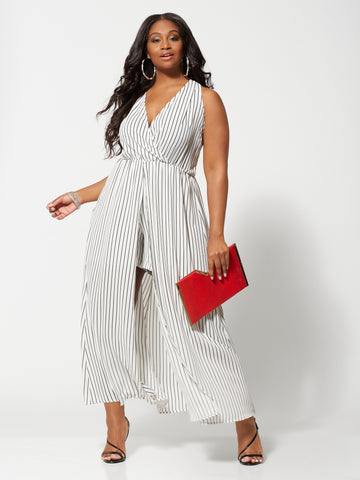 Ettie Romper Maxi Dress in White