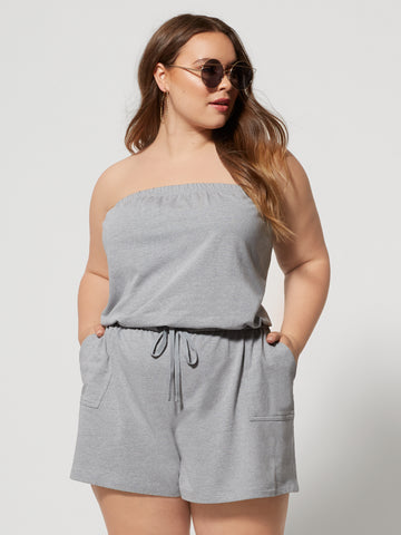 Irina Convertible Romper in Grey