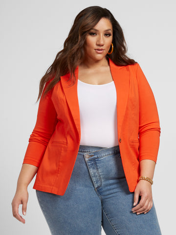 The Orange-Red City Blazer in Red