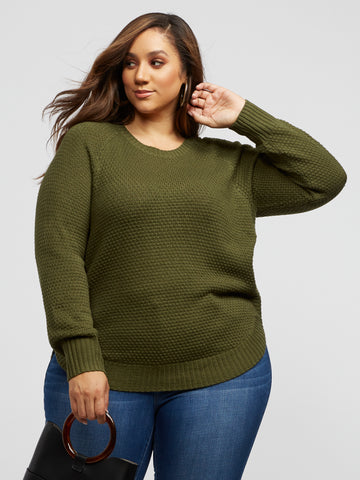 Monroe Olive Side-Zip Sweater in Olive
