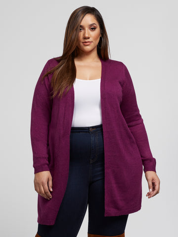 Tori Cardigan Sweater in Purple