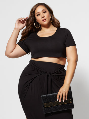 Shawnee Crop Top in Black