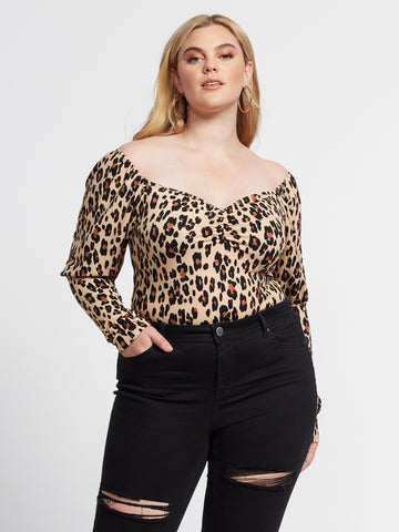 Bretta Sweetheart Leopard Top in Brown