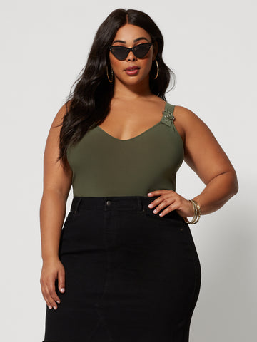 Amare Utility Bodysuit in Olive