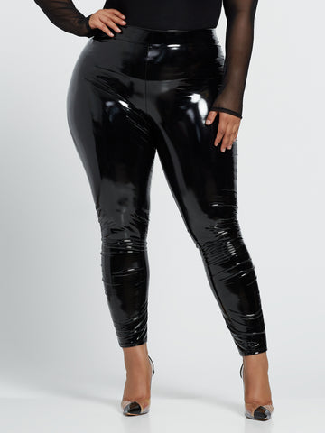 Donna Vinyl Leggings in Black