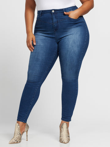 Ultra High-Rise Skinny Jeans in Premium Blue Wash